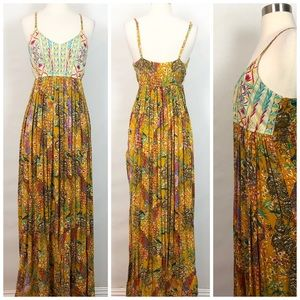 Raga Parkland Embroidered Maxi Dress Paradise S